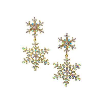 Boston Proper - Double Snowflake Earrings - Gold - One Size