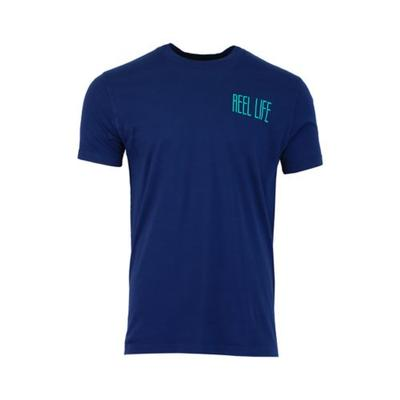 Reel Life Dress Blue Reel Life Square Raised on the Water Graphic Ocean Washed T-Shirt