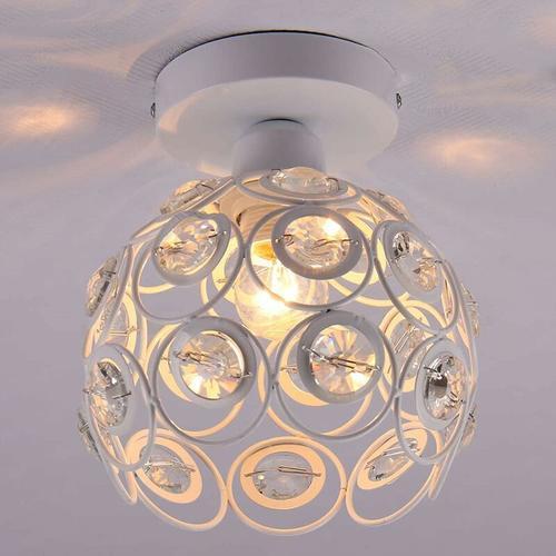 Kristall Deckenleuchte 20cm Metall Eisen Kronleuchter Retro Deckenleuchte E27 Moderner Kronleuchter