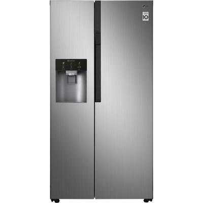 LG Side-by-Side, GSL561PZUZ, 179 cm hoch, 91,2 breit F (A bis G) silberfarben Side-by-Side Kühlschränke SOFORT LIEFERBARE Haushaltsgeräte