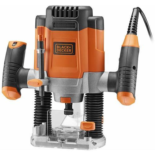 Black & Decker KW1200E Oberfräse 1200W 55mm 230V mit Zubehör
