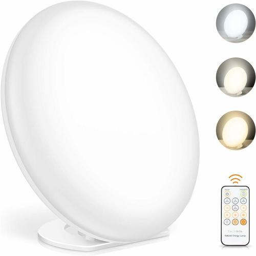 Tageslichtlampe, Lichttherapielampe mit Memoryfunktion, 3 Lichtfarben und 5 einstellbare