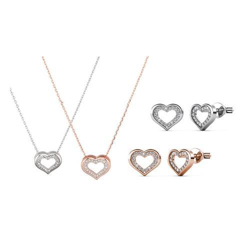 Halskette und/oder Ohrringe: Halskette/Roségold