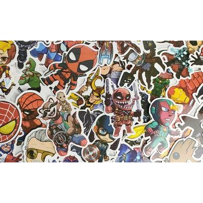 Lot de 100 autocollants de super-héros : x2