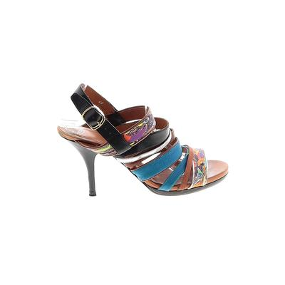 Dries Van Noten Heels: Brown Shoes - Size 40