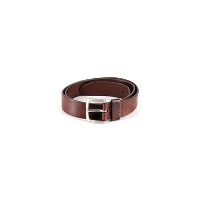 Timberland Leather Belt: Brown Solid Accessories - Size Large