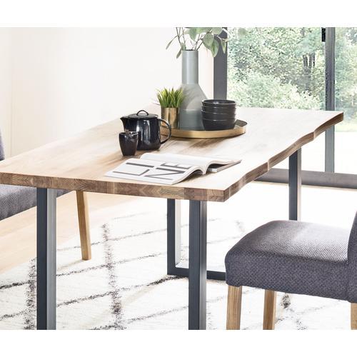 MCA living Esstisch Rockford, Massivholztisch mit Baumkante braun Holz-Esstische Holztische Tische