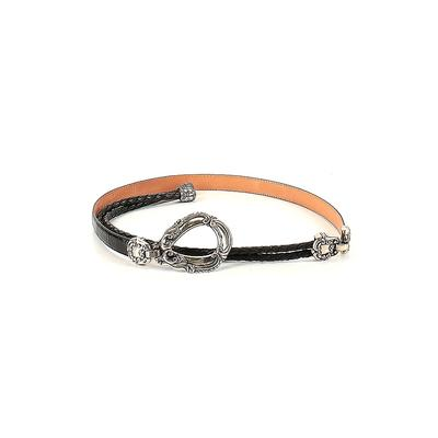 Brighton Leather Belt: Black Solid Accessories - Size Small
