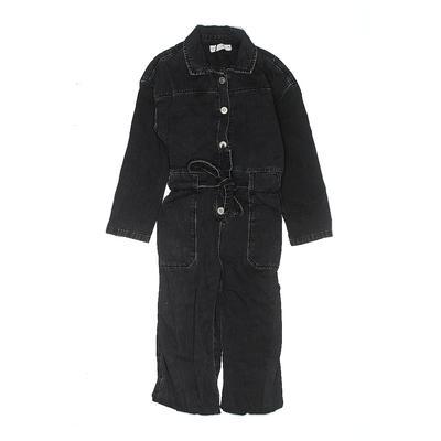 Zara Jumpsuit: Black Solid Skirt...