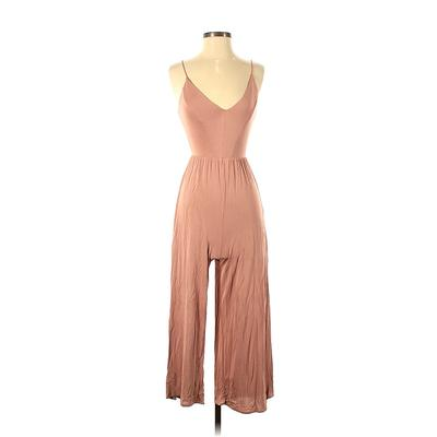 Sienna Sky Jumpsuit: Pink Solid ...