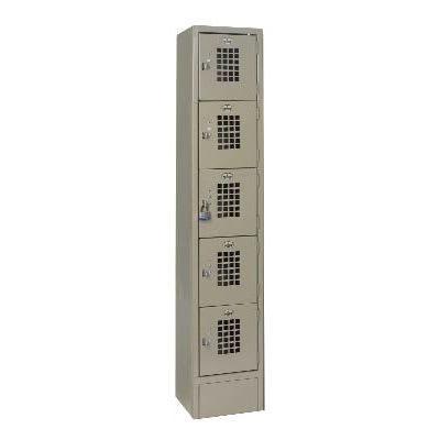 """Winholt WL-55 1-Column Locker w/ (5) 10"""" x 12"""" x 12"""" Compartments, Beige"""