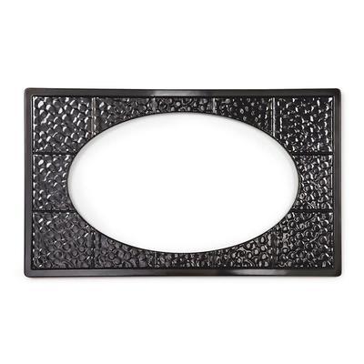 GET ML-192-BK Full Size Tile w/ (1) Cut-Outs for ML-183/ML-184, Melamine, Black