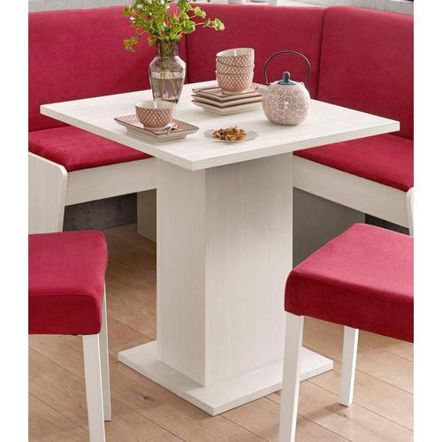 my home Säulen-Esstisch, Breite 68 oder 110 cm weiß Säulen-Esstisch Säulentische Esstische Tische