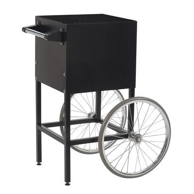 Gold Medal 2649BK Fun Pop Cart for 4 oz Popper w/ Storage Compartment & 2 Spoke Wheels, Black