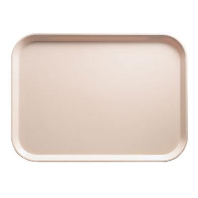"Cambro 1318106 Fiberglass Camtray? Cafeteria Tray - 17 3/4""L x 12 3/5"" W, Light Peach"