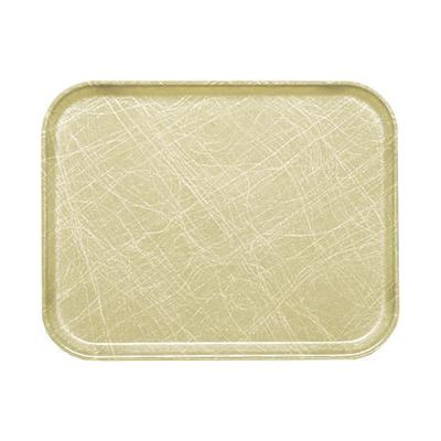 "Cambro 1520214 Fiberglass Camtray? Cafeteria Tray - 20 1/4""L x 15""W, Abstract Tan"
