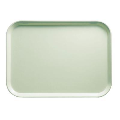 "Cambro 810429 Fiberglass Camtray? Cafeteria Tray - 9 4/5""L x 8""W, Key Lime"