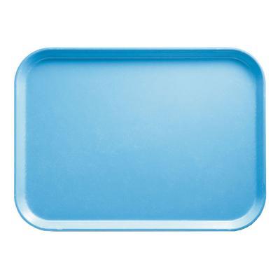 "Cambro 915518 Fiberglass Camtray? Cafeteria Tray - 15""L x 8 3/4""W, Robin Egg Blue"