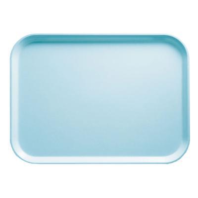 "Cambro 926177 Fiberglass Camtray? Cafeteria Tray - 25 1/2""L x 8 4/5""W, Sky Blue"