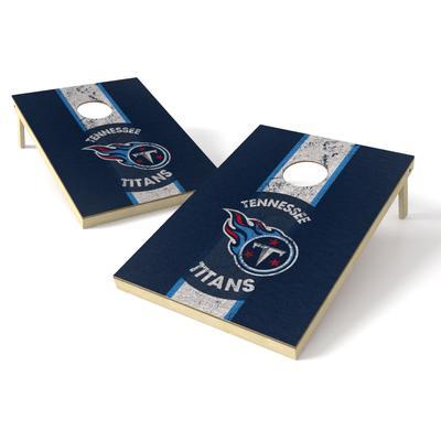 Tennessee Titans 2' x 3' Heritage Shield Cornhole Board Tailgate Toss Set