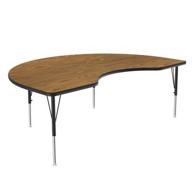 "Correll A4872-KID 06 Activity Table w/ 1 1/4"" High Pressure Top, 72""W x 48""D, Oak"