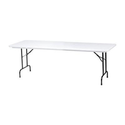"Royal CORBTP3096 96"" Rectangular Folding Banquet Table w/ Gray Granite Top, 29""H"