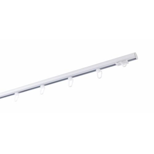 GARESA Gardinenschiene, 1 läufig-läufig, Wunschmaßlänge weiß Gardinenschiene Gardinenstangen nach Maß Gardinen Vorhänge