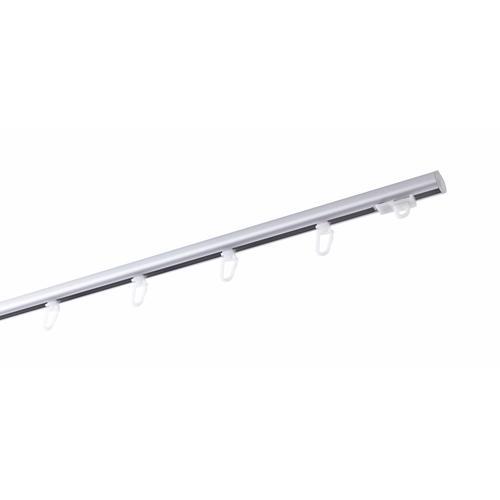 GARESA Gardinenschiene, 1 läufig-läufig, Wunschmaßlänge grau Gardinenschiene Gardinenstangen nach Maß Gardinen Vorhänge