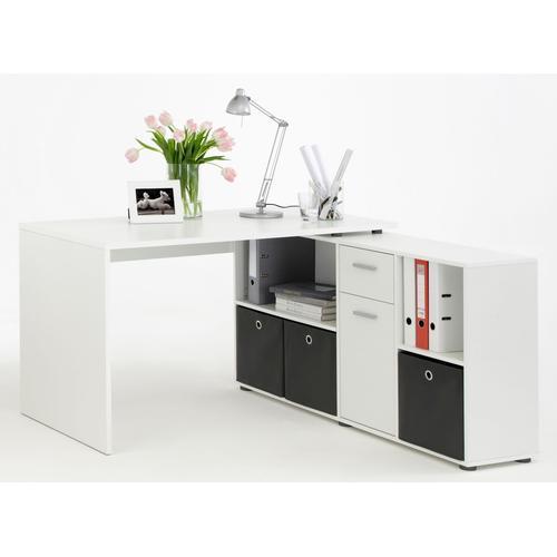 FMD Eckschreibtisch Lex weiß Eckschreibtische Bürotische und Schreibtische Büromöbel