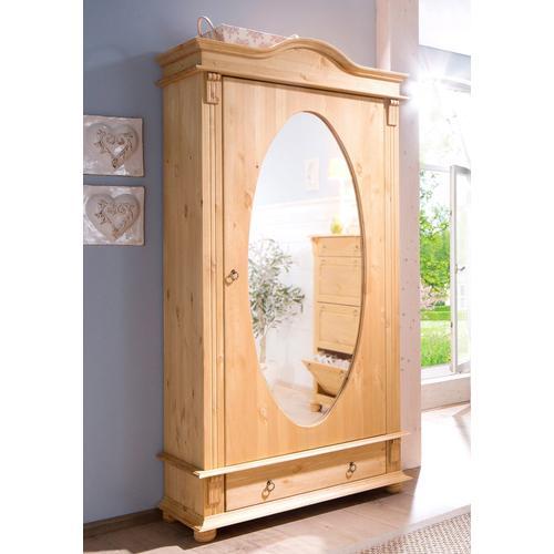 Home affaire Garderobenschrank Florenz, mit Spiegel beige Garderobenschränke Garderoben