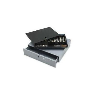 Sparco Products SPR15504 Cash Drawer w Removable Tray 17.75in.x15.75in.x334in. Gray