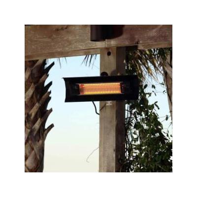 Fire Sense 60460 Black Steel Mojave Sun Mojave Sun Black Steel Wall Mounted Infrared Patio Heater 60