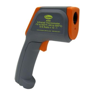 Cooper 422-0-8 Gun Style Infrared Thermometer w/ Range Laser and -76 To 932 F Temperature Range