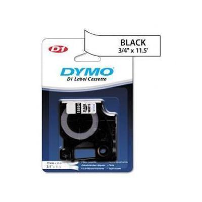 Dymo D1 Flexible Nylon Label Maker Tape, 3/4in x 12ft, Black on White