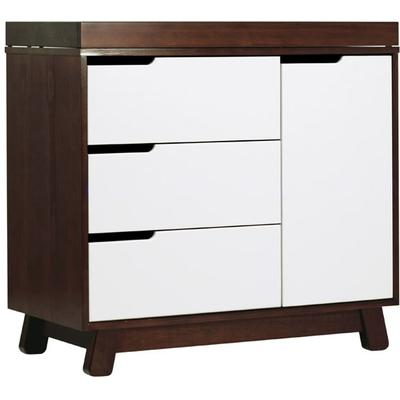 Babyletto Hudson 3-Drawer Changer Dresser, KD w/Removable Changing Tray in Espresso/White