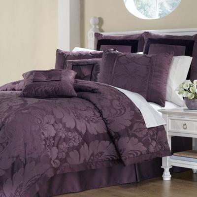 Lorenzo Comforter Bed Set Plum, King, Plum