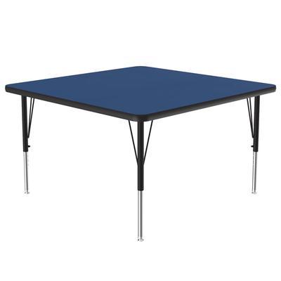"Correll A4848-SQ 37 Activity Table w/ 1 1/4"" High Pressure Top, 48""W x 48""D, Blue"