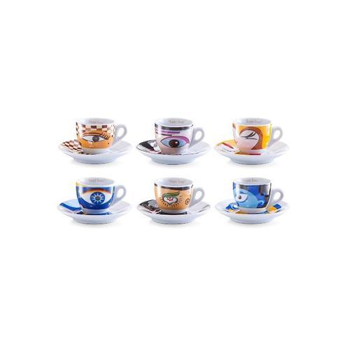 Zeller Present Espressotasse Magic Eyes, (Set, 12 tlg.) bunt Becher Tassen Geschirr, Porzellan Tischaccessoires Haushaltswaren