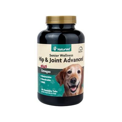 NaturVet Senior Care Hip & Joint Advanced Formula Dog Tablets, 40 count