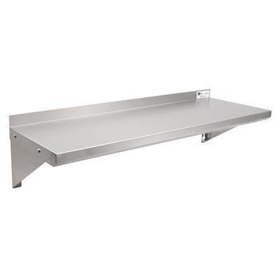 "John Boos EWS8-1248 Solid Wall Mounted Shelf, 48""W x 12""D, Stainless"