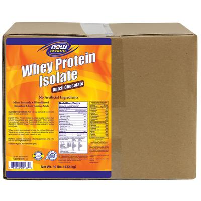 Now Foods Whey Protein Isolate Dutch Chocolate 10 lbs (4.54 kg)