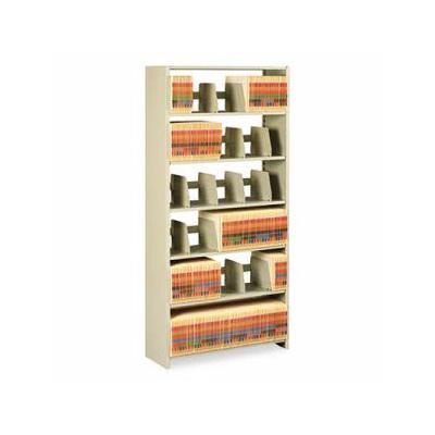 """Tennsco Snap-Together Open Shelving Steel 6-Shelf Closed Starter Set, Sand (Tnn1276Pcsd)"""