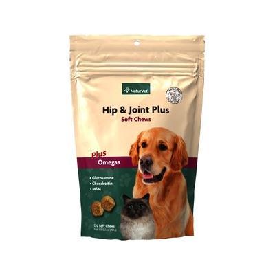 NaturVet Hip & Joint Plus Dog & Cat Soft Chews, 120 count
