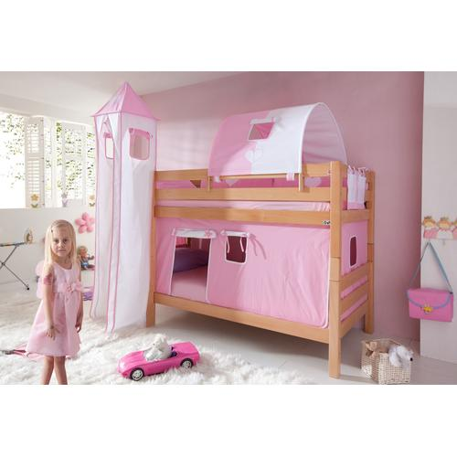 Relita Etagenbett, Set 4-tlg. rosa Kinder Etagenbett Kinderbetten Kindermöbel