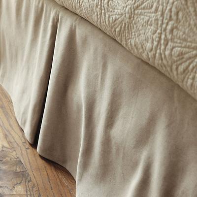 Tailored Bedskirt Natural Burlap Full - Ballard Designs