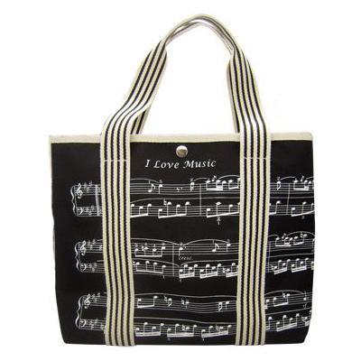 Music Sales Canvas Tote Bag Sheet Music