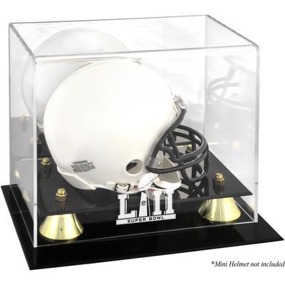 Fanatics Authentic Super Bowl LII Golden Classic Mini Helmet Logo Display Case