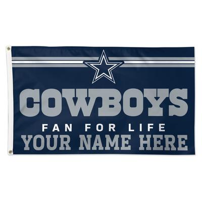 WinCraft Dallas Cowboys 3' x 5' One-Sided Deluxe Personalized Flag