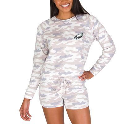 Women's Concepts Sport Camo Philadelphia Eagles Encounter Long Sleeve Top & Short Set