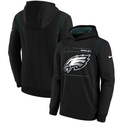Youth Nike Black Philadelphia Eagles Logo Performance Pullover Hoodie